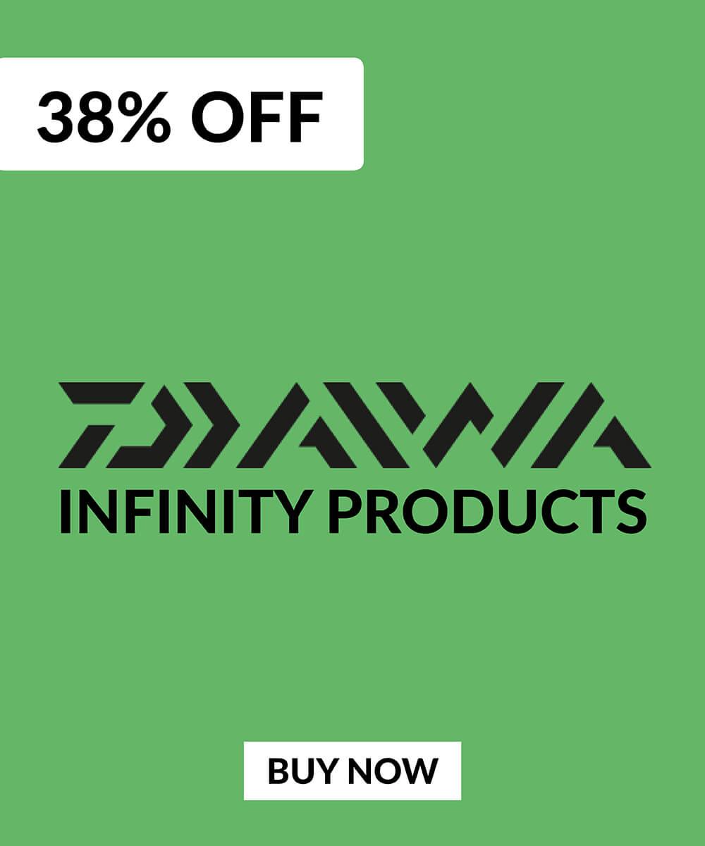 38% Daiwa Infinity Products