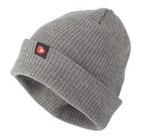 Greys Knitted Ribbed Beanie   Charcoal