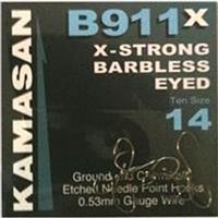 Kamasan B911X Barbless Eyed Hooks
