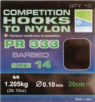 Preston Innovations PR333 Competition Barbed Hooks to Nylon