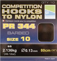 Preston Innovations PR344 Competition Barbed Hooks to Nylon