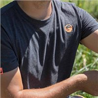Guru Brush Logo T-Shirt Heather Charcoal