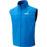 Map Softshell Gilet Blue