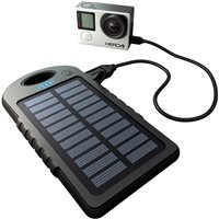 GoPole Dual Charge - USB Powerbank with Solar Charger