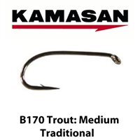 Kamasan B170 Medium Traditional Trout Hooks