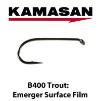 Kamasan B400 Emerger Surface Film Trout Hooks