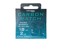Drennan Carbon Match Hooks To Nylon