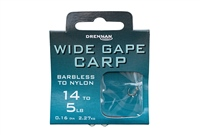 Drennan Wide Gape Carp Hooks To Nylon