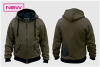 Sticky Baits Dark Green Zip Hoody