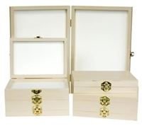 Dennett Wooden Fly Display Boxes