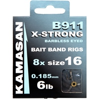 Kamasan B911 X-Strong Barbless Bait Band Rigs