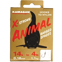 Kamasan Animal Heavy Hooks To Nylon