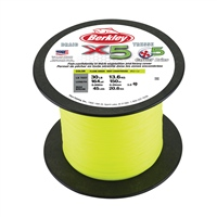 Berkley X5 Braid 2000m Bulk Spool - Fluoro Green