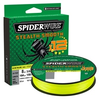 Spiderwire Stealth Smooth 12 Hi-Vis Yellow Braid 150m