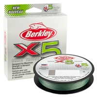 Berkley X5 Low-Vis Green Braid