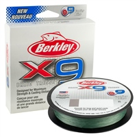 Berkley X9 Low-Vis Green Braid 150m