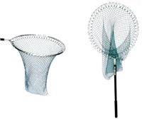 Sharpes of Aberdeen Belmont Round Sea Trout Telescopic Landing Net Rubber Mesh 20 Inch