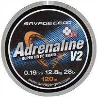 Savage Gear HD4 Adrenaline V2 Braid - 120m Grey