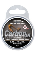 Savage Gear Carbon49 High Carbon Steel Wire - 10m Coated Grey