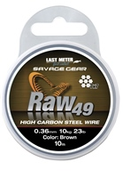 Savage Gear Raw49 High Carbon Steel Wire - 10m Uncoated Brown