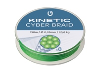 Kinetic 8 Braid Fluo Green 150m