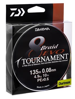 Daiwa Tournament 8 EVO Braid  - Click to view a larger image