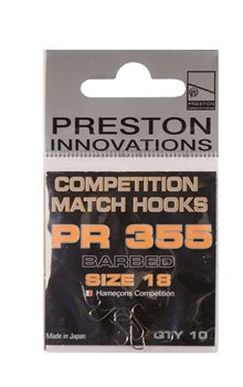 Preston Innovations PR355 Competition Micro Barb Hooks  - Click to view a larger image