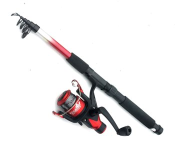 shakespeare firebird telescopic 8ft spin combo fishing tackle and bait