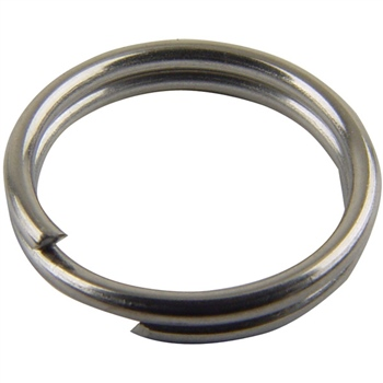 Mustad MA031-NI (9950N) Round Split Rings  - Click to view a larger image
