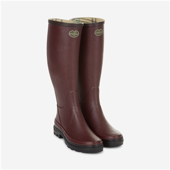 Le Chameau Giverny Jersey Lined Womens Boot Cherry