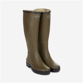 Le Chameau Giverny Jersey Lined Womens Boot Green
