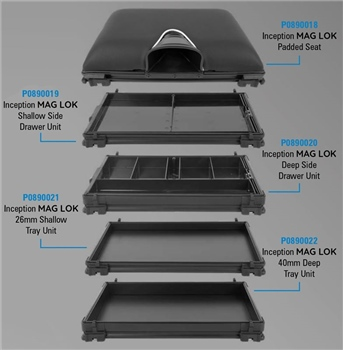 Preston Innovations Inception Mag Lok - 40mm Deep Tray Unit