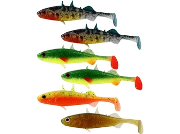 Westin Stanley the Stickleback Shadtail - Mixed Colours - 5.5cm 1.5g 1